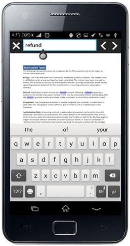 البحث عن كلمة داخل فقرات ملف PDF
