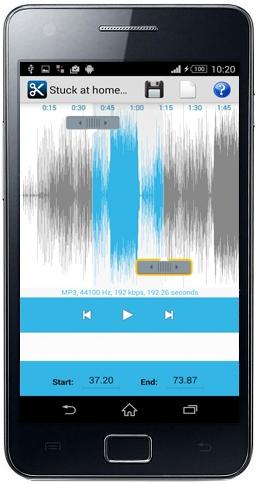 تحرير الصوت Mp3 على شكل موجات للقص منها