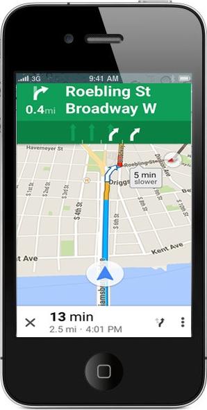 معاينة برنامج خرائط جوجل للايفون