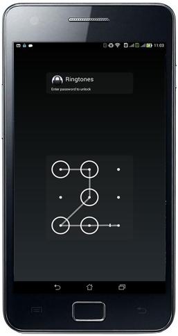 انشاء قفل للشاشة على شكل رمز حماية بتوصيل الخطوط