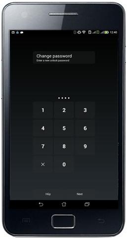 قفل الشاشة بكلمة سر وحماية التطبيقات برقم سري