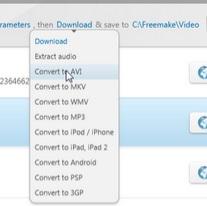 الصيغ التي يدعمها برنامج تحميل الفيديو