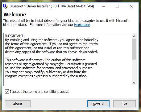 Bluetooth Driver Installerمعاينة برنامج بلوتوث للكمبيوتر 1