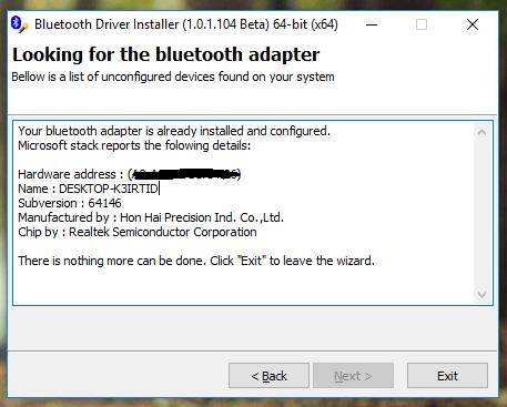 Bluetooth Driver Installerصورة معاينة لتثبيت برنامج بلوتوث للكمبيوتر