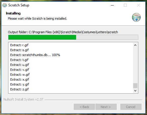 خلال نسخ ملفات وتثبيت برنامج سكراتش على الحاسوب